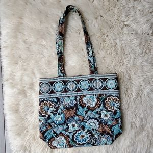 Vera Bradley Retired Java Blue Top Handle Tote